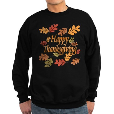 Happy Thanksgiving Sweatshirt (dark)