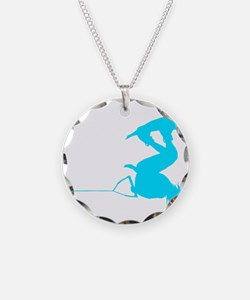 Blue Wakeboard Invert Handle Necklace
