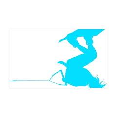 Blue Wakeboard Invert Handle 38.5 x 24.5 Wall Peel