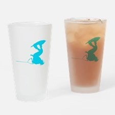Blue Wakeboard Invert Handle Drinking Glass
