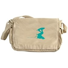Blue Wakeboard Invert Handle Messenger Bag