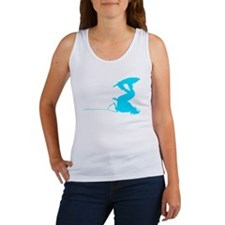 Blue Wakeboard Invert Handle Women's Tank Top