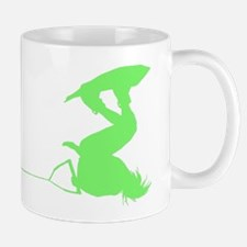 Green Wakeboard Invert Handle Mug