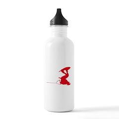 Red Wakeboard Invert Handle P Water Bottle
