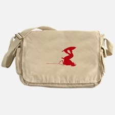 Red Wakeboard Invert Handle P Messenger Bag