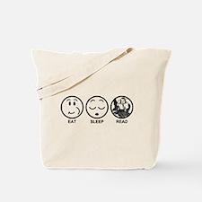 Eat Sleep Read Tote Bag
