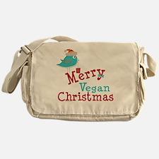 Merry Vegan Christmas Messenger Bag