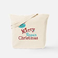 Merry Vegan Christmas Tote Bag