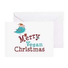 Merry Vegan Christmas Greeting Card