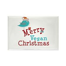 Merry Vegan Christmas Rectangle Magnet (10 pack)