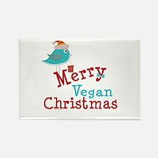 Merry Vegan Christmas Rectangle Magnet (100 pack)