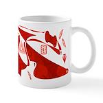 Red Abstract Blown Mug