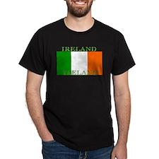 Ireland Irish Flag Black T-Shirt
