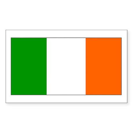 Ireland Irish Blank Flag Rectangle Sticker
