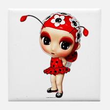 Little Miss Ladybug Tile Coaster