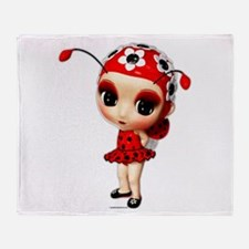Little Miss Ladybug Throw Blanket