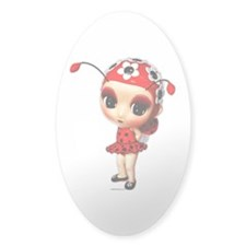 Little Miss Ladybug Sticker (Oval)