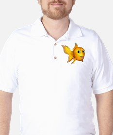Goldie Toon Goldfish Golf Shirt