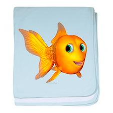Goldie Toon Goldfish baby blanket