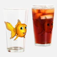 Goldie Toon Goldfish Drinking Glass