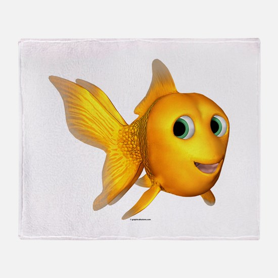 Goldie Toon Goldfish Throw Blanket