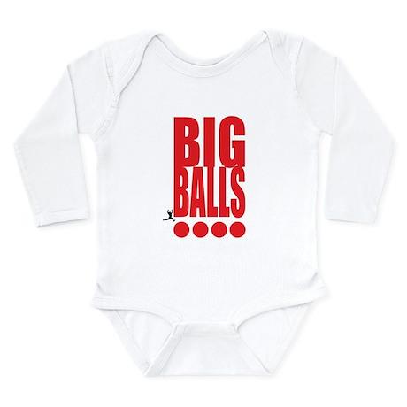 Big Red Big Balls Long Sleeve Infant Bodysuit