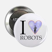 """I Heart Robots 2.25"""" Button (10 pack)"""