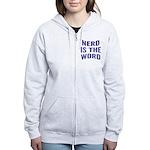 Nerd Is The Word Women's Zip Hoodie