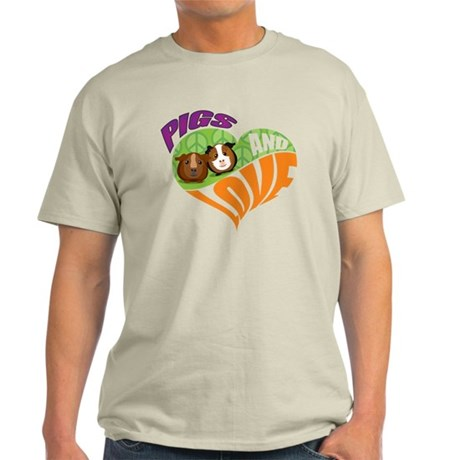 Pigs and Love Light T-Shirt