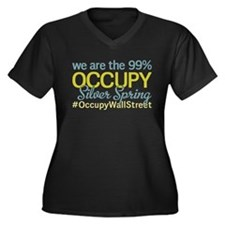 Occupy Silver Spring Women's Plus Size V-Neck Dark