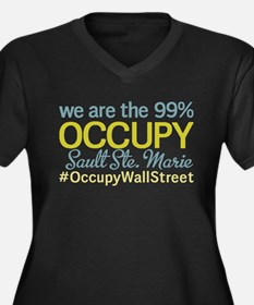 Occupy Sault Ste. Marie Women's Plus Size V-Neck D