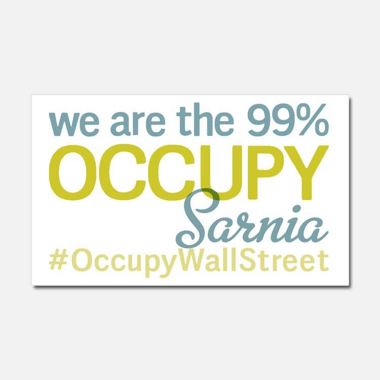 Occupy Sarnia Car Magnet 20 x 12
