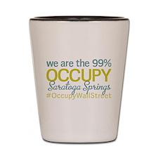 Occupy Saratoga Springs Shot Glass