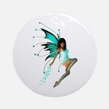 The Aqua Fae Ornament (Round)
