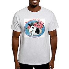 Rabbit & Roses Ash Grey T-Shirt