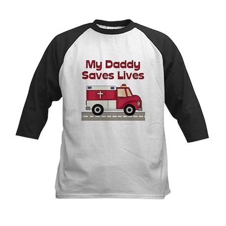 My Daddy Saves Lives Kids Baseball Jersey