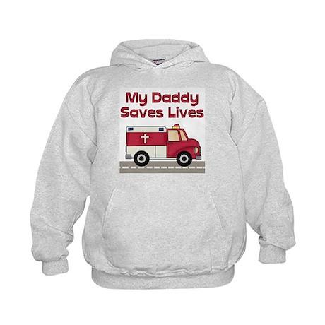My Daddy Saves Lives Kids Hoodie