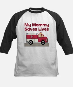 My Mommy Saves Lives Kids Baseball Jersey