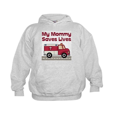 My Mommy Saves Lives Kids Hoodie