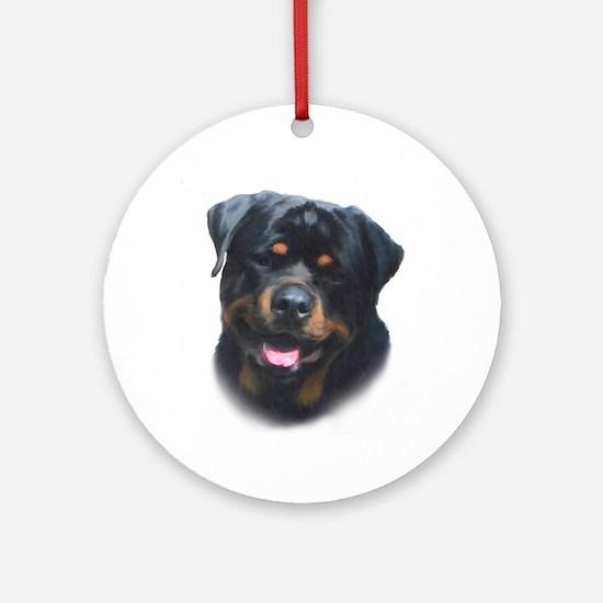 General -Rottweiler Head ( Ma Ornament (Round)