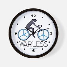Peace War Biking Wall Clock