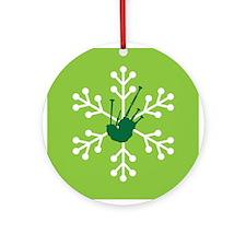 Bagpipe Christmas Music Snowflake Ornament