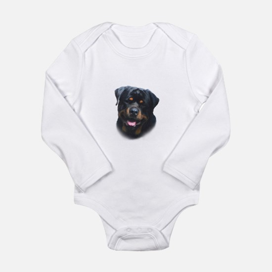 A Special Rottweiler Long Sleeve Infant Bodysuit