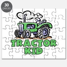 Green Tractor Kid Puzzle
