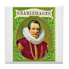 Charlemagne Cigar Label Tile Coaster