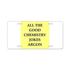 funny chemistry jokes Aluminum License Plate