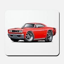 1969 Super Bee Red-Black Car Mousepad