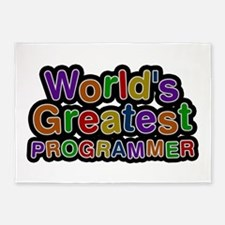 World's Greatest PROGRAMMER 5'x7' Area Rug