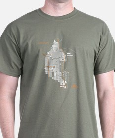 Chicago Men's T-Shirt White on Military Green