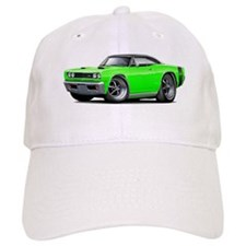 1969 Super Bee Lime-Black Car Baseball Cap